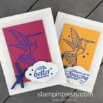 Learn How to Create an embossed image on a handmade card using the Humming Along Stamp Set by Stampin