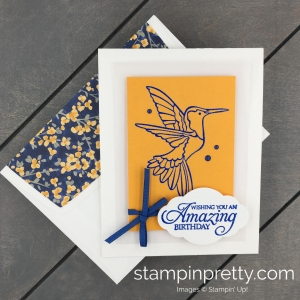 Learn How to Create an embossed image on a handmade card using the Humming Along Stamp Set by Stampin' Up! Mary Fish, Stampin' Pretty(1)