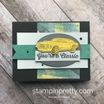 Learn How to Create this Masculine Card using the Geared Up Garage Bundle by Stampin