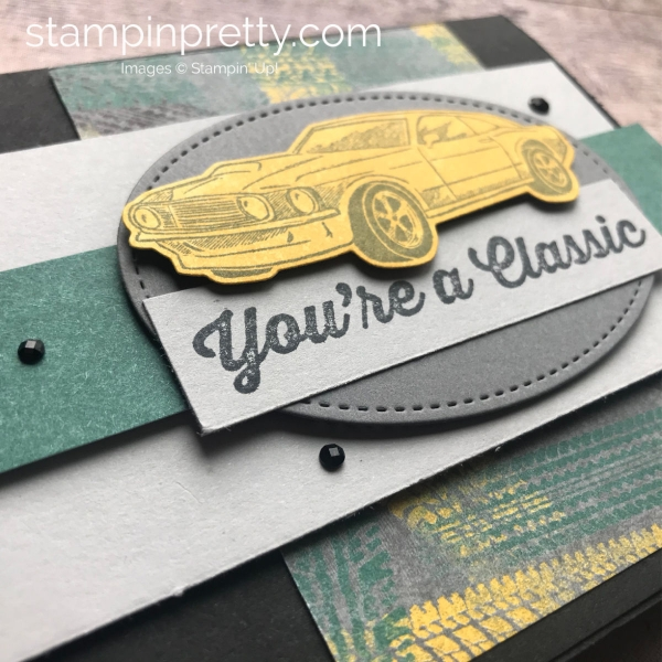 Learn How to Create this Masculine Card using the Geared Up Garage Bundle by Stampin'Up! Mary Fish, Stampin' Pretty(3)