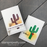 Learn how to create these handmade cactus cards using the Flowering Desert Stamp Set by Stampin