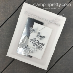 Learn how to create this Friend Card using the Butterfly Gala Stamp Set, Butterfly Duet Punch and Rectangle Stitched Framelits Dies by Stampin
