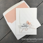 Learn how to create this baby card using the Tufted Embossing Folder from Stampin