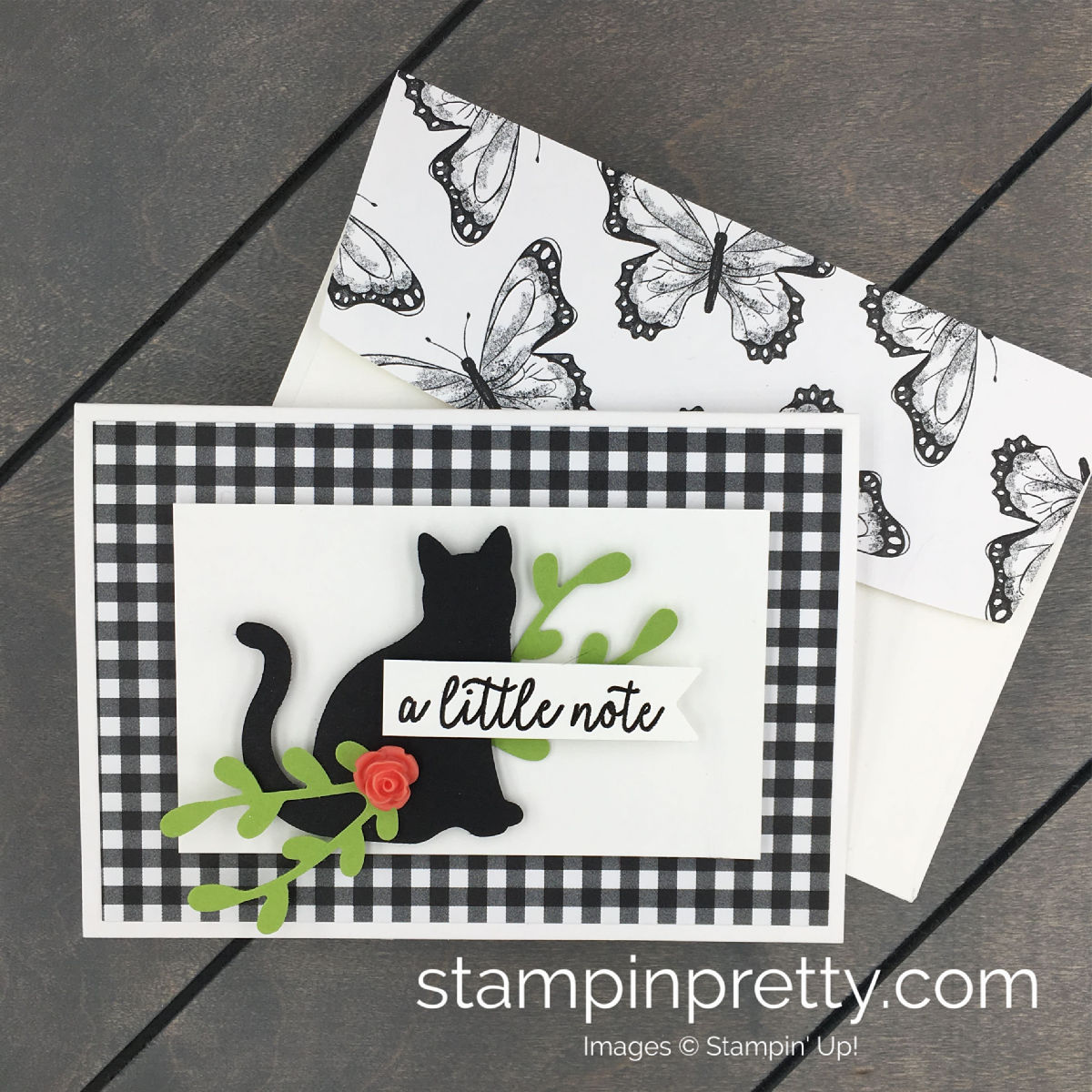 Learn how to create this card using the Cat Punch from Stampin'Up! MaryFish Stampin' Pretty