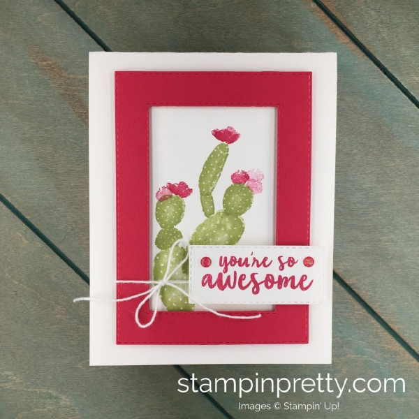 Learn how to create this friend card using the Flowering Desert Photopolymer Stamp Set by Stampin' Up! Created by Stampin' Pretty, Mary Fish