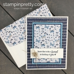 Learn how to create this handmade card using the Needlepoint Nook Designer Series Paper by Stampin