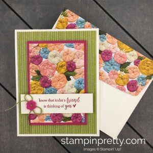 Learn how to create this handmade card using the Needlepoint Nook Designer Series Paper by Stampin' Up!