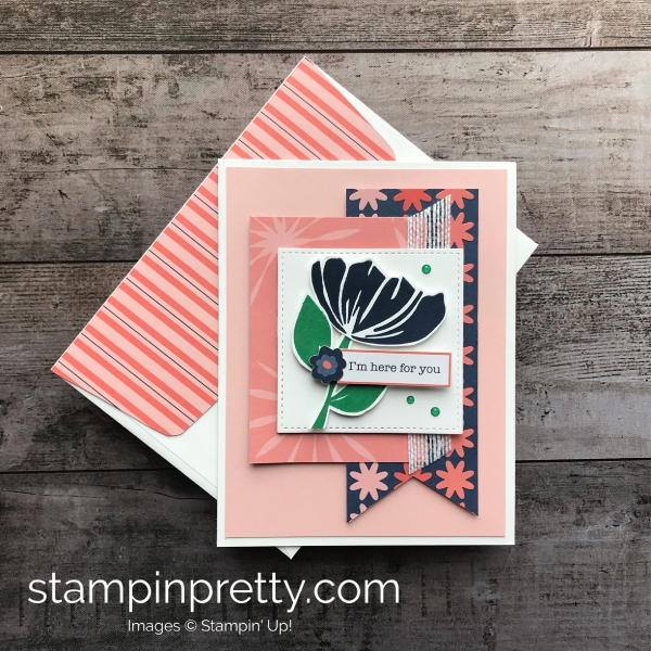 Learn how to create this sympathy card using the Bloom by Bloom Stamp Set by Stampin'Up! Mary Fish Stampin Pretty 2