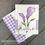 Learn how to create this sympathy card using the Lasting Lily Sale-a-Bration Stamp Set by Stampin