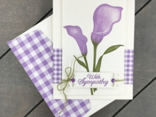 Learn how to create this sympathy card using the Lasting Lily Sale-a-Bration Stamp Set by Stampin' Up! Mary Fish, Stampin' Pretty