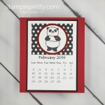 The Annual 2019 Calendar by Linda White using Stampin