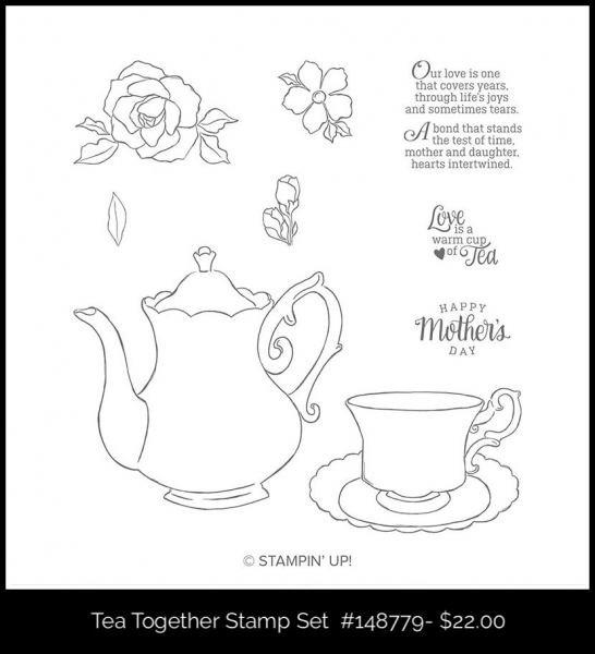 148779 Tea Together Stamp Set