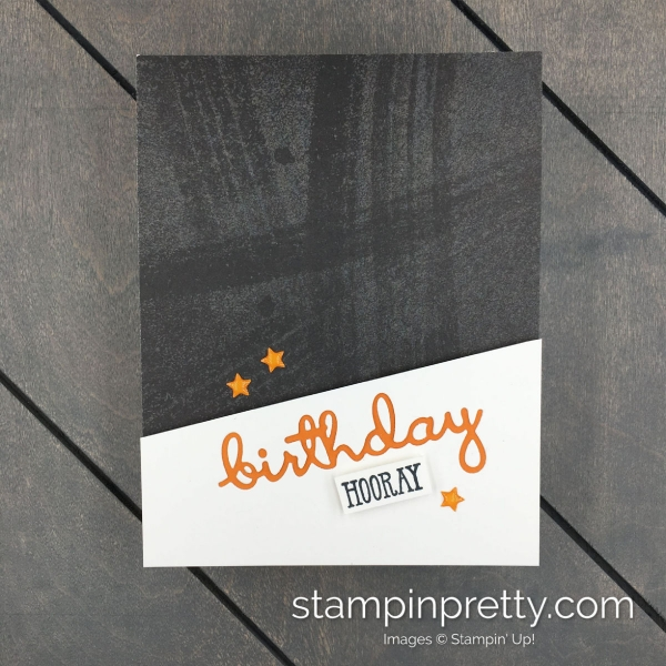 Learn How to Create This Simple Masculine Birthday Card Using the Well Said Bundle by Stampin' Up! Mary Fish, Stampin' Pretty