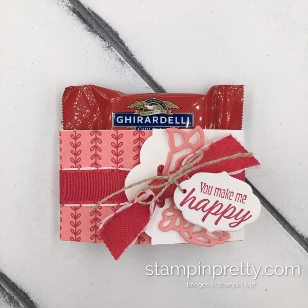 Learn how to create these Mini Ghirardelli Treat Holders using Stampin' Up! All My Love Suite created by Mary Fish, Stampin' Pretty(2)
