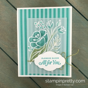 Learn how to create this All For You handmade card using the All That You Are Stamp Set by Stampin' Up!Card by Mary Fish, Stampin' Pretty