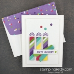 Learn how to create this Happy Birthday Card using the Rectangle Stitched Framelits Dies by Stampin