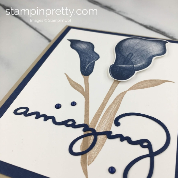 Learn how to create this Lasting Lily Amazing Friend card using Stampin' Up! Products. Mary Fish, Stampin' Pretty 2