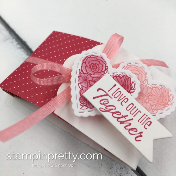 Learn how to create this Mini Ghirardelli Treat Holder using Stampin' Up! Meant To Be Products. Created by Mary Fish, Stampin' Pretty2