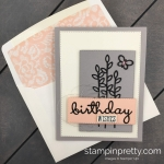 Learn how to create this Petal Pink Well Said Card using the Well Written Framelits and Well Said Stamp Set from Stampin