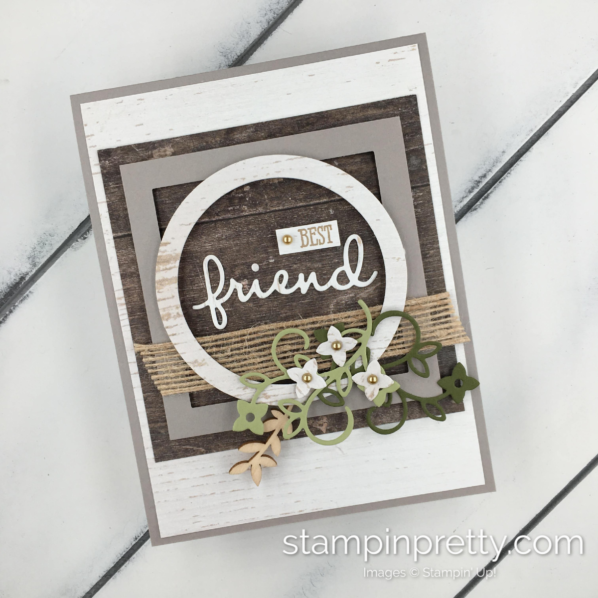 Well Said Friend Card Inspired By Home Decor Stampin Pretty