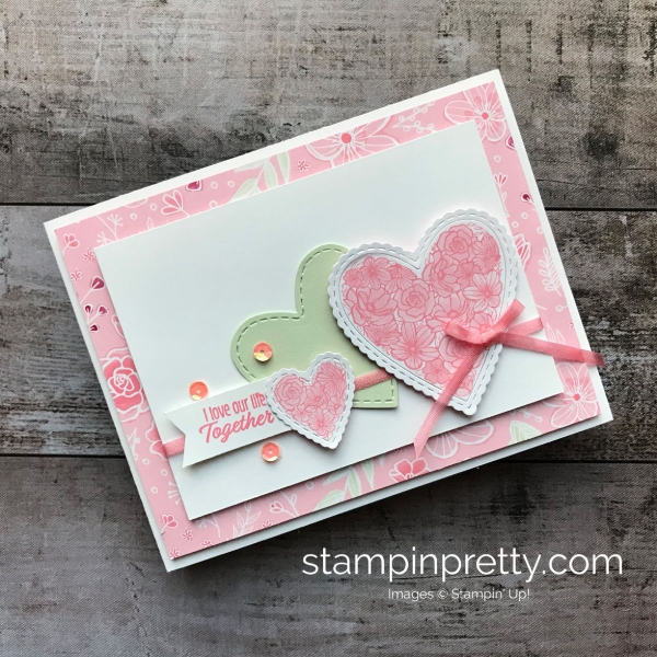 Learn how to create this love valentines card using the Meant to Be Bundle by Stampin' Up! Created by Mary Fish, Stampin' Pretty!