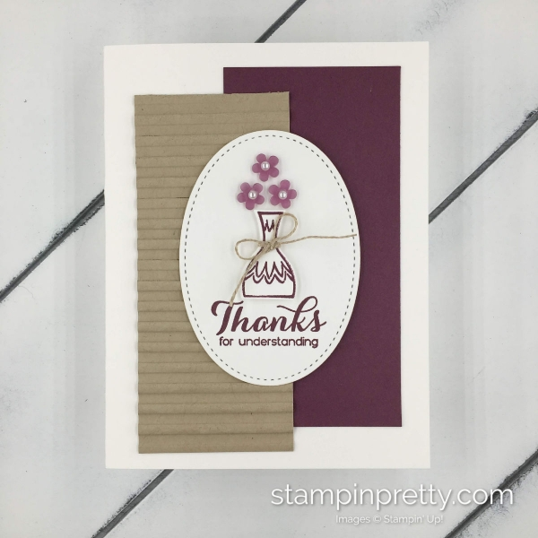 Learn how to create this handmade card using the Vibrant Vases Stamp Set by Stampin' Up! Created by Mary Fish, Stampin' Pretty #maryfish #stampinhoot