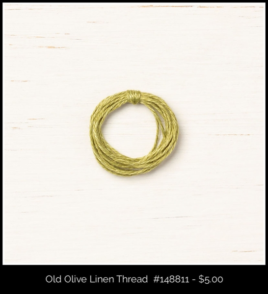 148811 Old Olive Linen Thread