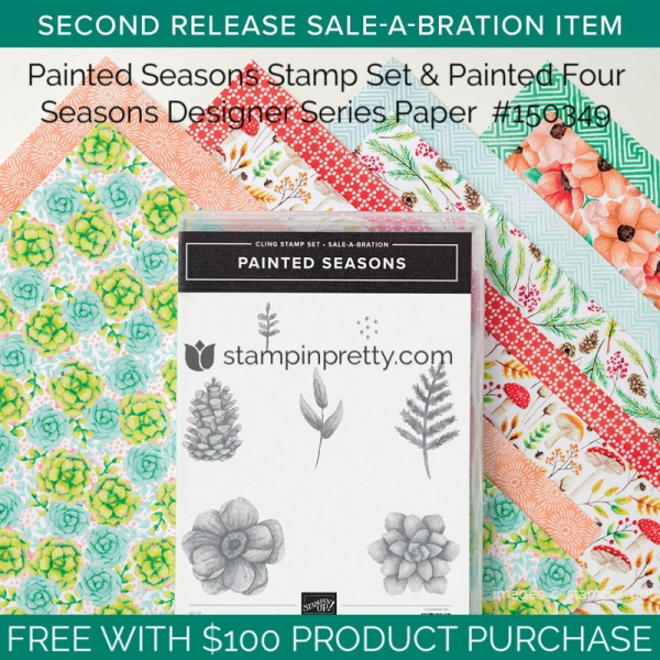 150349 Painted Seasons Stamp Set & Painted Four Seasons DSP