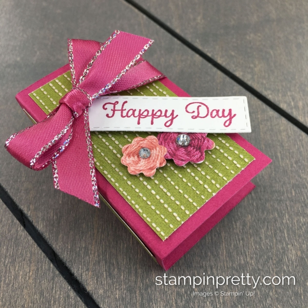 Create this nugget holder using Stampin' Up! Needlepoint Nook. Handmade by Mary Fish, Stampin' Pretty