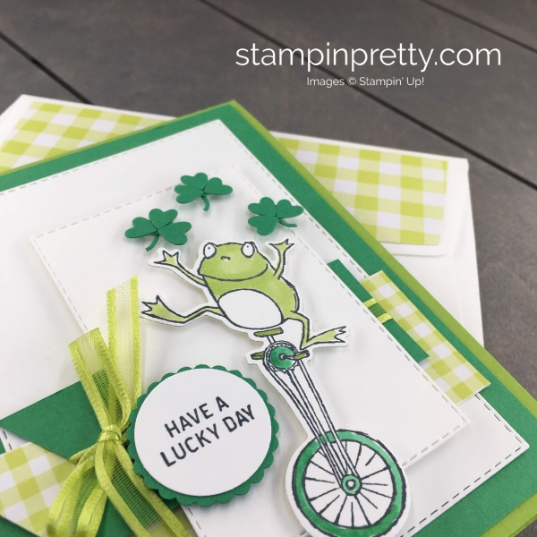 Learn How to Create this St Patrick's Day Card using the So Hoppy Together Stamp Set and coordinating Hoppy For You Dies by Stampin' Up! Mary Fish, Stampin' Pretty