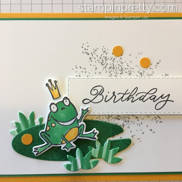 Learn How to Create this birthday card using the So Hoppy Together Sale-A-Braiton Stamp Set by Stampin' Up! Enamel Placement Tip Created by Mary Fish, Stampin' Pretty