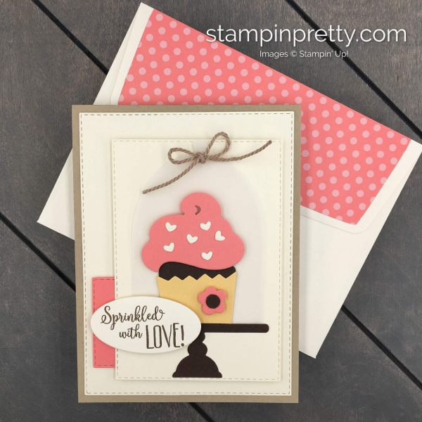 Learn how to create this Hello Cupcake Birthday Card using the Call Me Cupcake Thinlits Dies by Stampin' Up! Mary Fish, Stampin' Pretty