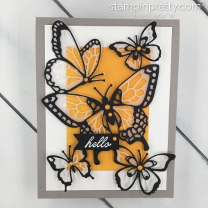 Learn how to create this handmade card using the Beauty Abounds Cling Bundle by Stampin' Up! Butterflies. Mary Fish, Stampin' Pretty