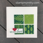 Learn how to create this handmade tropical escape Valentine using Stampin
