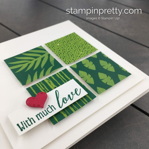 Learn how to create this handmade tropical escape Valentine using Stampin' Up! Products. Card created by Mary Fish, Stampin' Pretty