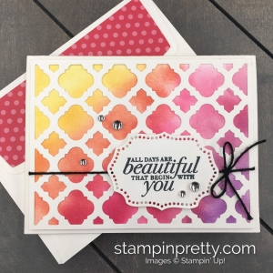 Beautiful Florentine Filigree by Stampin' Up! Rainbow Card by Mary Fish, Stampin' Pretty