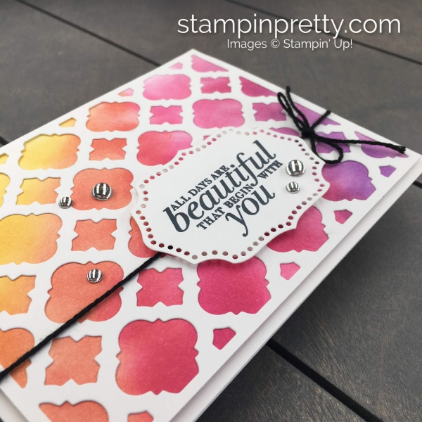Beautiful Florentine Filigree by Stampin' Up! Rainbow Card by Mary Fish, Stampin' Pretty(