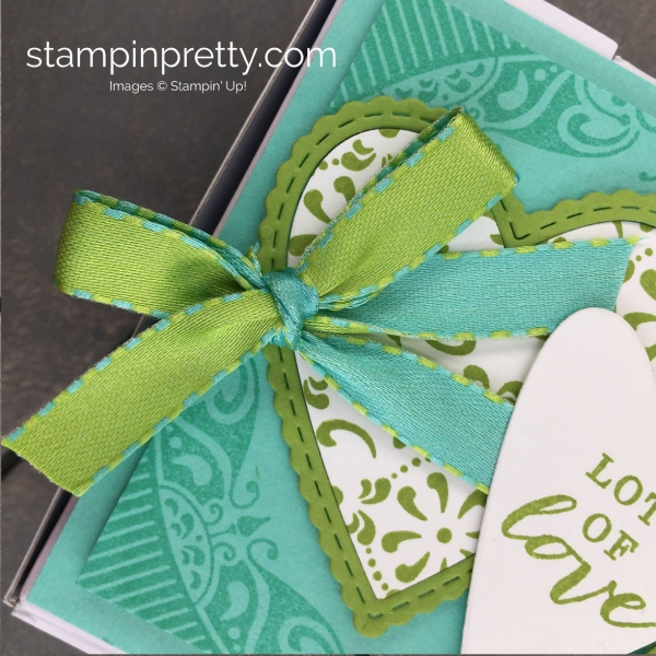 Create this All Adorned Pizza Gift Box using the Sale A Bration All Adorned Level 1 Stamp Set Mary Fish, Stampin' Pretty Mini Pizza Box
