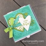 Create this All Adorned Pizza Gift Box using the Sale A Bration All Adorned Level 1 Stamp Set Mary Fish, Stampin