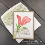 Create this Sympathy Card using the Lasting Lily Stamp Set and Coordinating Lily Framelits Dies by Stampin