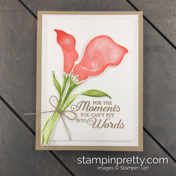 Create this Sympathy Card using the Lasting Lily Stamp Set and Coordinating Lily Framelits Dies by Stampin' Up! Mary Fish, Stampin' Pretty