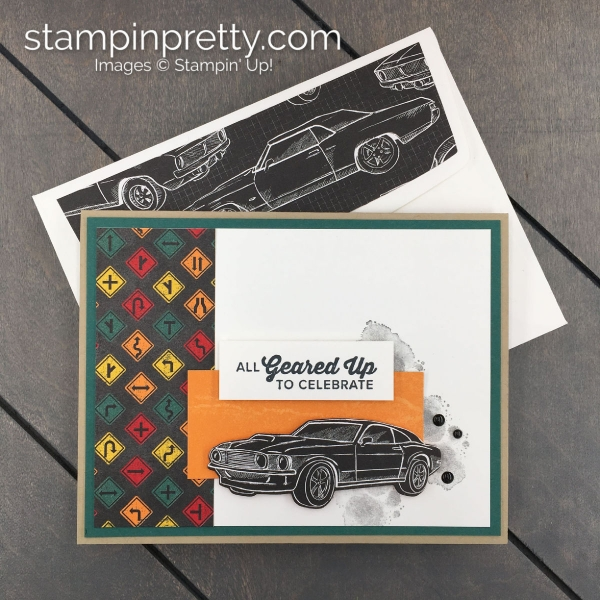 Create this card using the Geared Up Garage Bundle by Stampin' Up! Card by Mary Fish, Stampin' Pretty