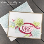 Create this friend card using Sale-A-Bration All Adorned, Painted Seasons, Four Seasons Framelits by Stampin