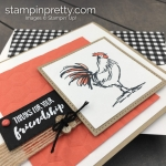 Create this friend card using the Home to Roost Sale-A-Bration Stamp Set by Stampin