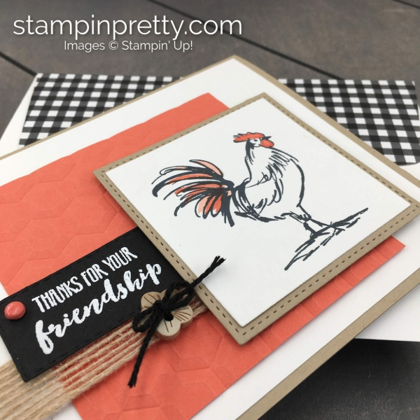 Create this friend card using the Home to Roost Sale-A-Bration Stamp Set by Stampin' Up! Card by Mary Fish, Stampin' Pretty