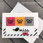 Create this miss you note card using the Well Said Bundle from Stampin