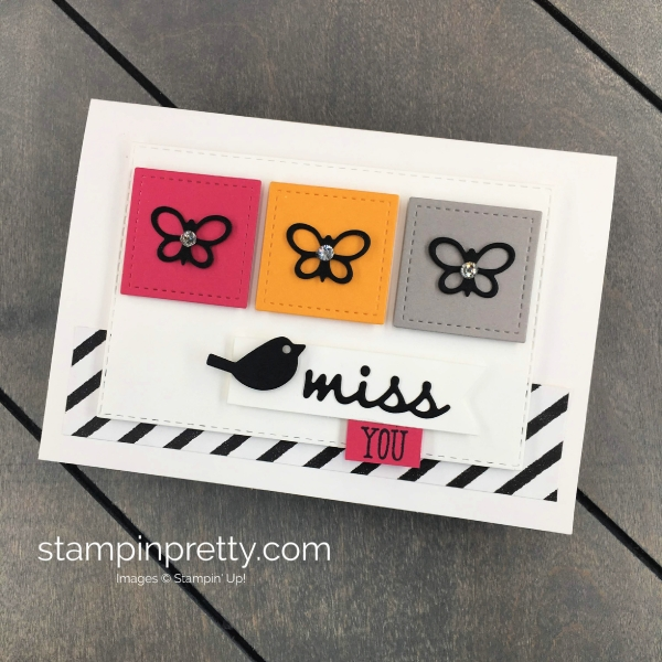 Create this miss you note card using the Well Said Bundle from Stampin' Up! Mary Fish, Stampin' Pretty