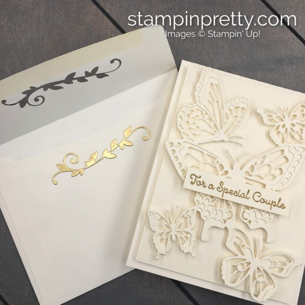 Create this Anniversary - Wedding Handmade Card using the Butterfly Abounds Bundle by Stampin' Up! Card created by Mary Fish, Stampin' Pretty (2)