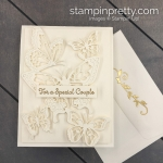 Create this Anniversary - Wedding Handmade Card using the Butterfly Abounds Bundle by Stampin