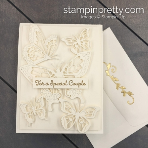 Create this Anniversary - Wedding Handmade Card using the Butterfly Abounds Bundle by Stampin' Up! Card created by Mary Fish, Stampin' Pretty